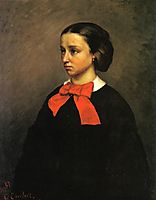 Portrait of Mlle. Jacquet, 1857, courbet