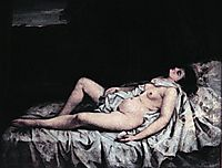 Reclining nude, courbet