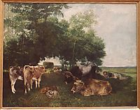 The Rest During the Harvest Season (Mountains of the Doubs), 1867, courbet