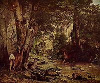 The Return of the Deer to the Stream at Plaisir Fontaine, 1866, courbet