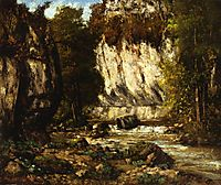 River and Cliff, 1865, courbet