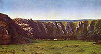 Rocky landscape near Flagey, 1855, courbet