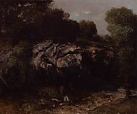 Rocky Landscape with Figure, 1865, courbet