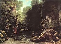 Rocky River Valley, 1865, courbet