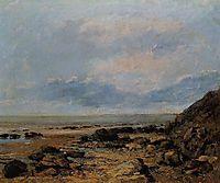 Rocky Seashore, 1865, courbet