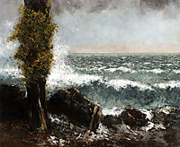 Seascape, the Poplar, c.1873, courbet