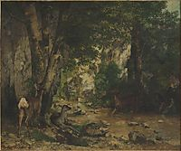 Shelter of Deers at Plaisir Fontaine Creek, 1866, courbet
