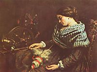 The Sleeping Embroiderer, 1853, courbet
