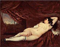 Sleeping Nude Woman, 1862, courbet