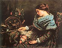 The Sleeping Spinner, 1853, courbet