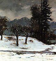 Snow, 1874, courbet