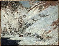 Snow Landscape in Jura, 1866, courbet