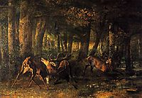 Spring, Stags Fighting, 1861, courbet