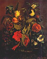 Still Life of Flowers, 1863, courbet