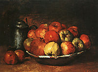 Still Life with Apples and Pomegranates, courbet