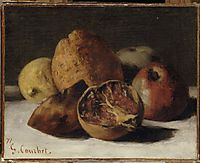 Still Life with Apples and Pomegranates, 1871, courbet