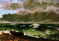 The Stormy Sea, 1869-1870, courbet