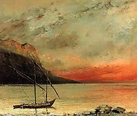 Sunset on Lake Leman, 1874, courbet