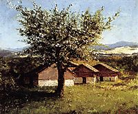 Swiss Landscape with Flowering Apple Tree, c.1876, courbet