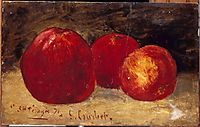 Three Red Apples, 1871, courbet