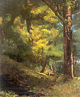 Two Goats in the Forest, 18, courbet