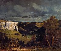 The Valley of the Loue in Stormy Weather, 1849, courbet