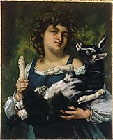 The Village Girl with a Goatling, 1860, courbet
