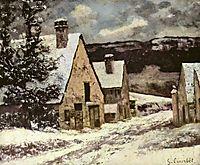 Village Street in Winter, c.1870, courbet