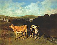 White Bull and Blond Heifer, 1851, courbet