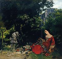 Woman with Garland, 1856, courbet