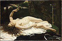 Woman with a Parrot, 1866, courbet