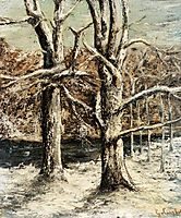 Woods in the Snow, c.1875, courbet
