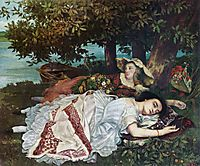 Young Ladies on the Banks of the Seine (Summer), 1857, courbet