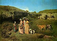 The Young Ladies of the Village, 1851-1852, courbet