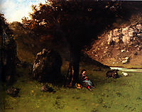 The Young Shepherdess, 18, courbet