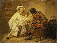 Harlequin and Pierrot, 1857, couture