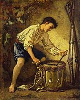 The Young Drummer, 1857, couture
