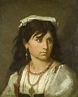 Young Italian Girl, 1877, couture