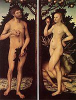 Adam and Eve, cranach