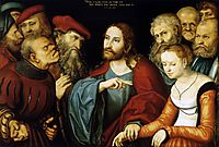 Christ and the Adulteress, 1532, cranach