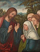Christ taking leave of his mother, 1520, cranach