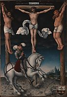 The Crucifixion with the Converted Centurion, 1538, cranach