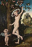 Cupid complaining to Venus., c.1525, cranach