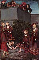 David and Bathsheba, 1526, cranach