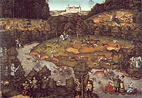 The deer hunting, 1540, cranach