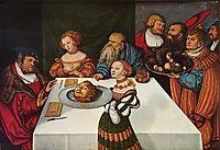 Feast of Herod, 1531, cranach