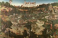 Hunt in Honour of Charles V at the Castle of Torgau, 1544, cranach