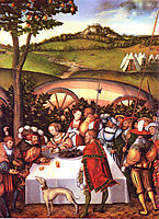 Judith at the Table of Holofernes, 1531, cranach