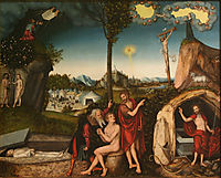 Law and Grace, 1529, cranach