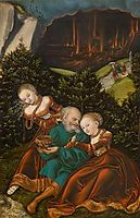 Lot and his daughters, 1528, cranach